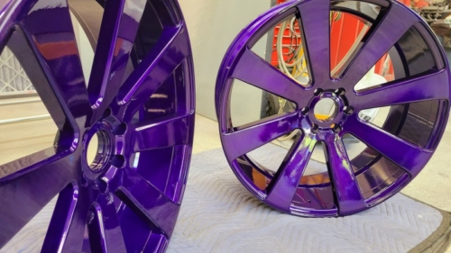 26 Inch Illusion Purple Wheels