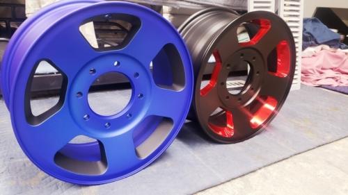 2 Custom Coated Wheels