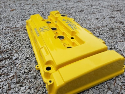Honda Valve Cover - Yellow