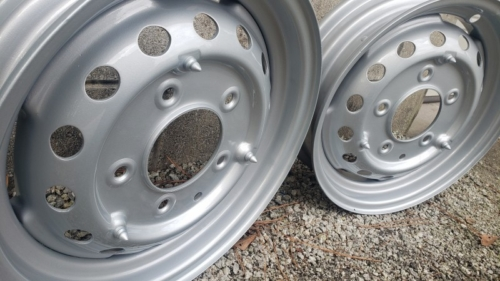 Old Wheels done in Porsche Silver