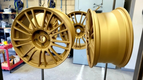 Satin Gold STi Wheels