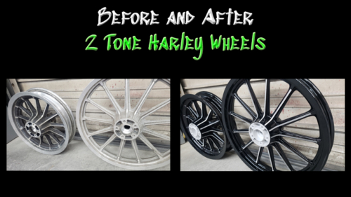 2 Tone Harley Wheels