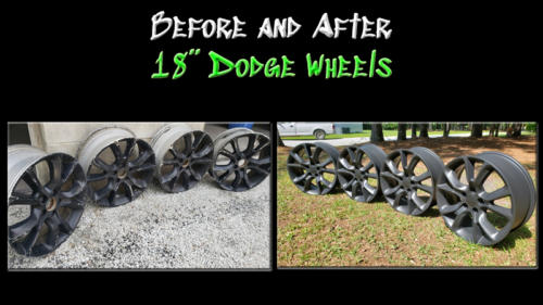 Before and After 18 inch Dodge Wheels