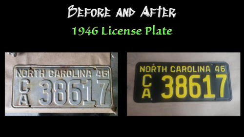 Before and After 1946 License Plate