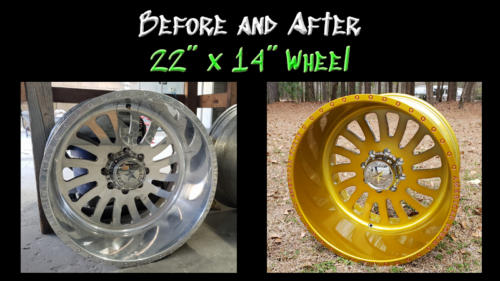 Before and After 22 x 14 Wheel