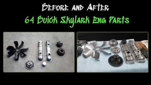 Before and After 64 Buick Eng Parts