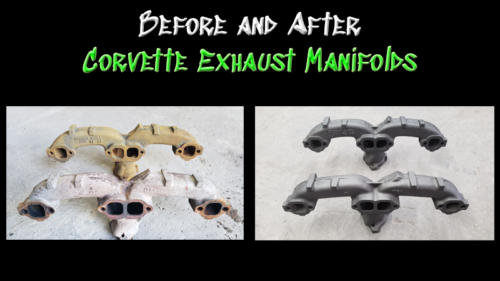 Before and After Exhaust Manifolds