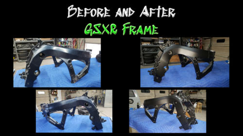 Before and After GSXR Frame