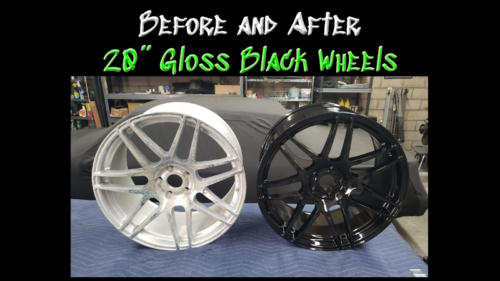 Before and After Gloss Black Wheel 01
