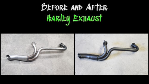 Before and After Harley Exhaust 01