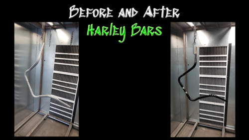 Before and After Harley Handlebars