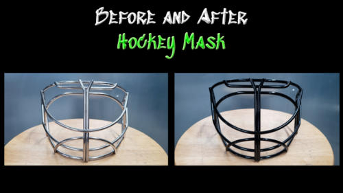 Before and After Hockey Mask