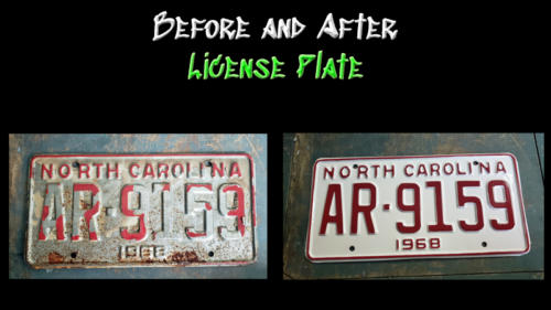 Before and After License Plate