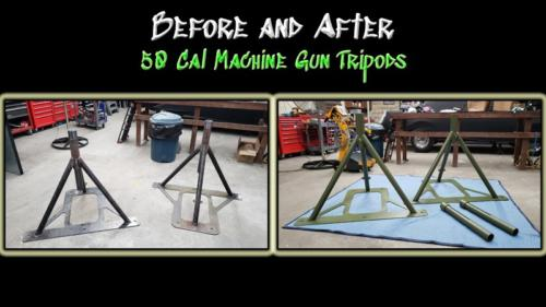 Before and After Machine Gun Mount