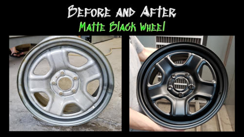 Before and After Matte Wheel