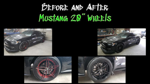 Before and After Mustang Wheels