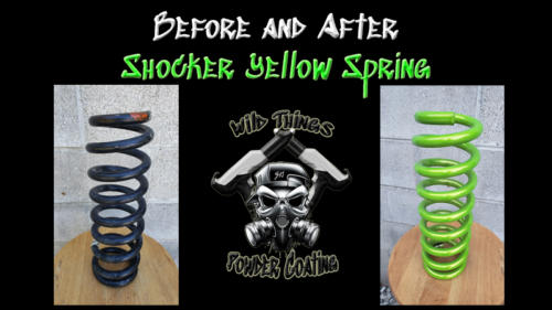 Before and After Shocker Yellow Spring