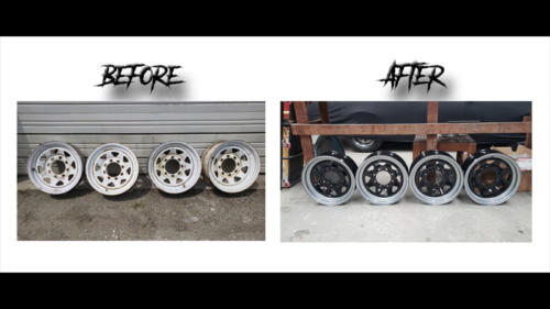 Before and After Trailer Wheels