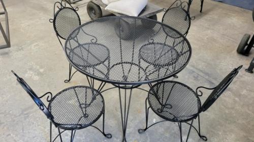 Patio-Table-Set-Satin-Black