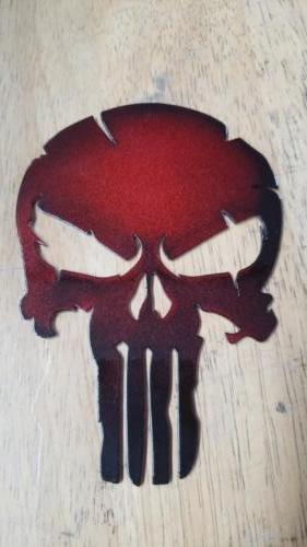 Skull - Red and Black