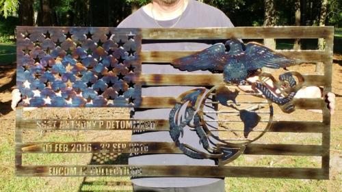USMC Metal Plaque