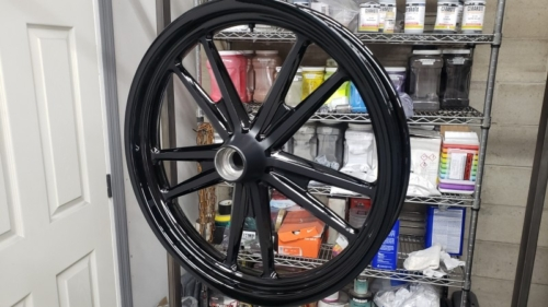 2 Tone Harley Wheels - Gloss Black and Satin Black