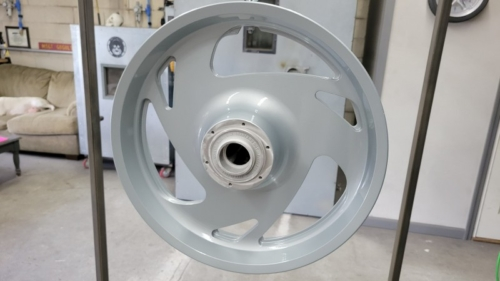Sportbike Wheel in Porsche SIlver